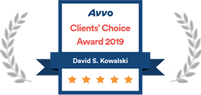 Avvo Clients' Choice Award Badge for David Kowalski
